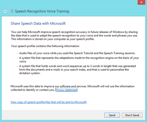 Using Speech Recognition on Surface