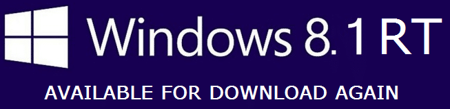 Windows RT 8.1 is available again