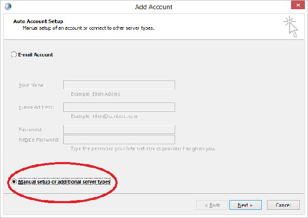 Setup Exchange Outlook on Surface 2-RT