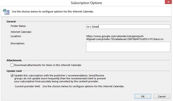 Google Mail-Calendar to Outlook Sync Instructions for