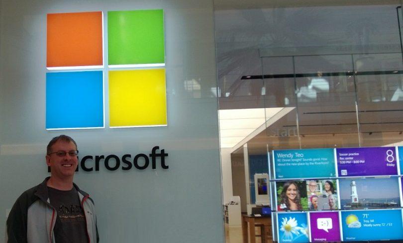 Tim in Microsoft Store