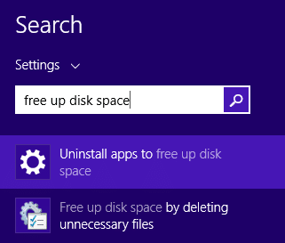 Free up space on Surface1