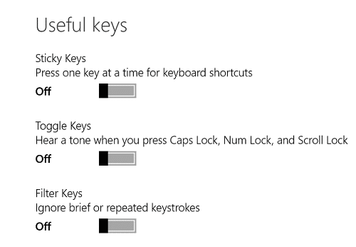 keyboard problems with surface