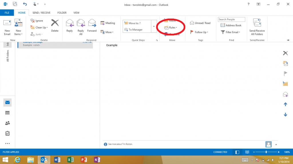 how to stop mail going to junk in outlook