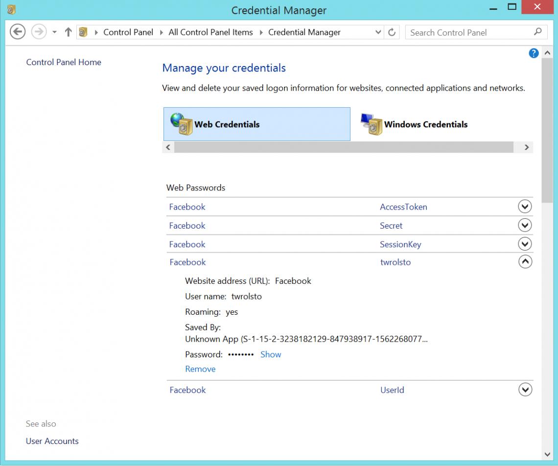 how to show password on windows 7