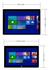 Surface Pro 2 and Surface Pro 3 Comparison - Form Factor