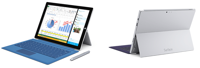 Surface Pro 2 and Surface Pro 3 Comparison