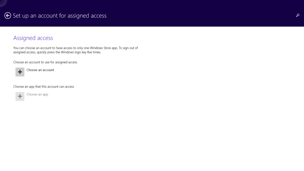 Turn a Surface into a Windows Kiosk-Assigned Access screen