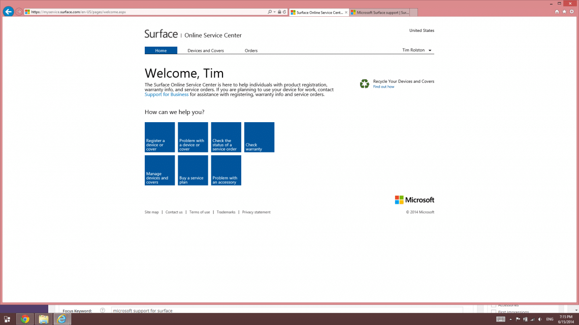 How to get Microsoft support for Surface tablet hardware • Love My ...