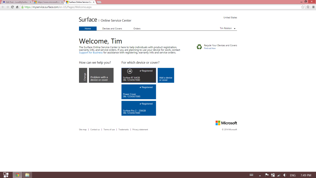 How to get Microsoft support for Surface tablet hardware-Surface Support site-Schedule Service 3