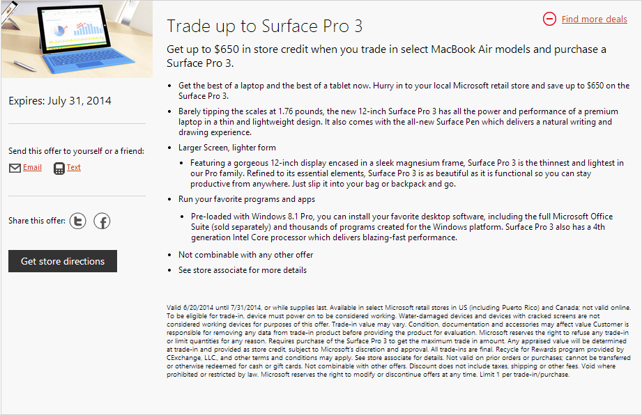 Trade macbook air for surface