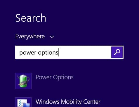 Another fix for Surface Pro 3 WiFi Issues-Power Options 1