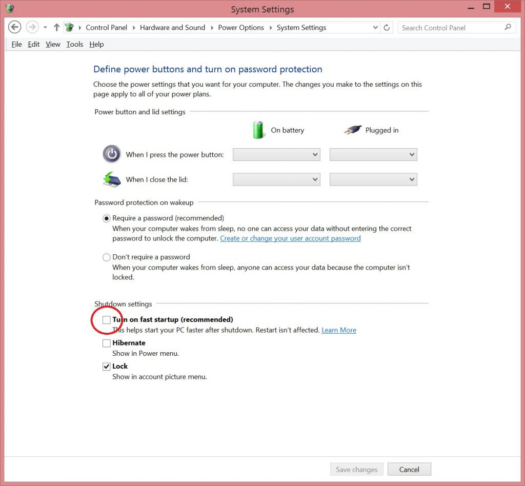 Another fix for Surface Pro 3 WiFi Issues-Power Options 4