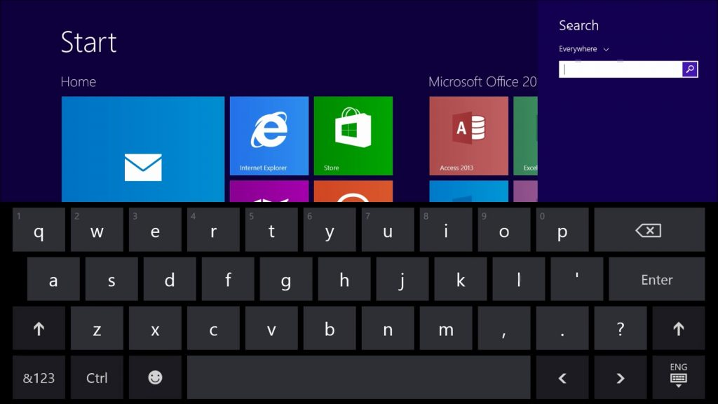 Get a Touch Screen Qwerty Keyboard on your Surface-Normal Layout