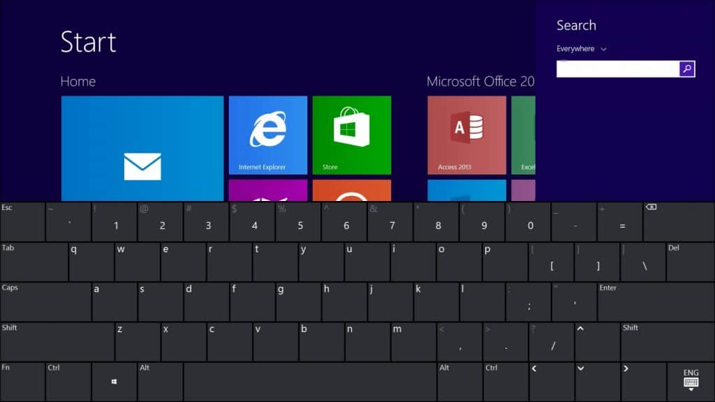 Get a Touch Screen Qwerty Keyboard on your Surface-Qwerty Layout