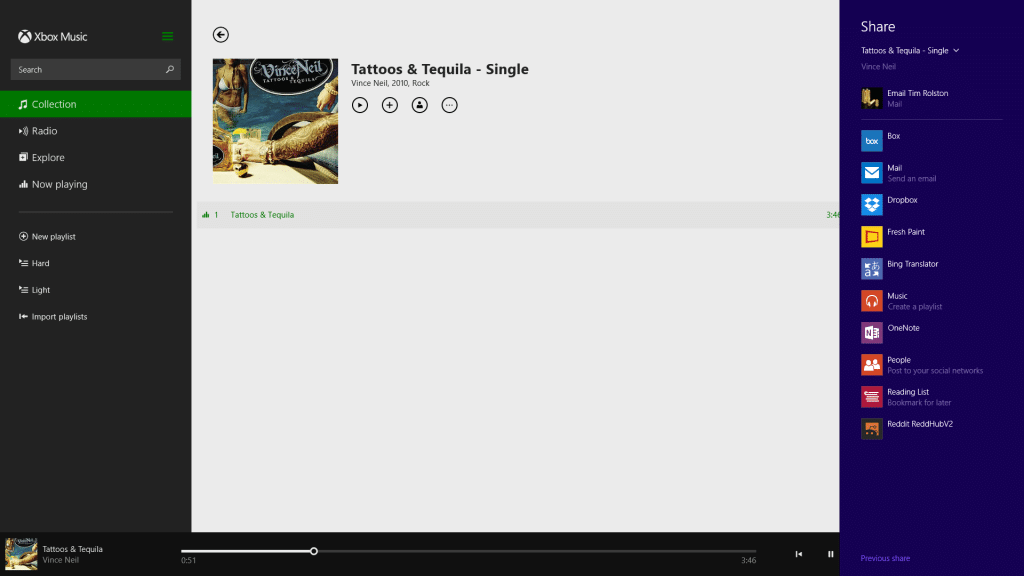 Using the Windows 8 Share Charm on your Surface-Share Music