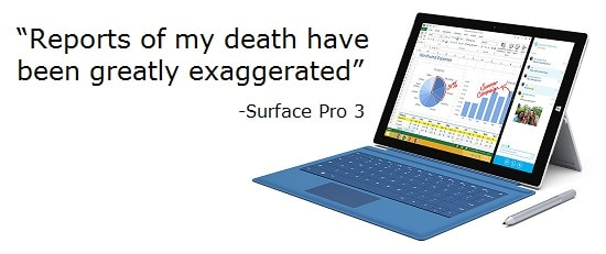 No, Microsoft is not discontinuing the Surface Pro 3