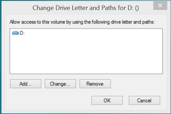disk management change drive letter