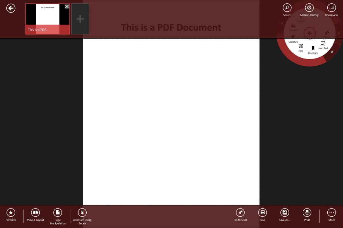 Annotate PDF on Surface