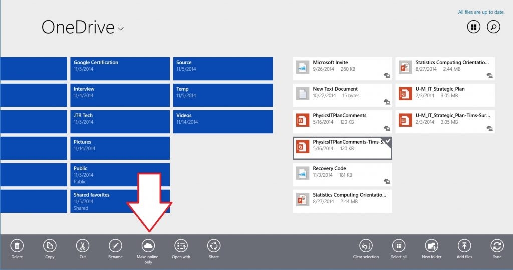 Free Up Space on Surface Tablets with OneDrive Options-Online-Only-Modern-one-file