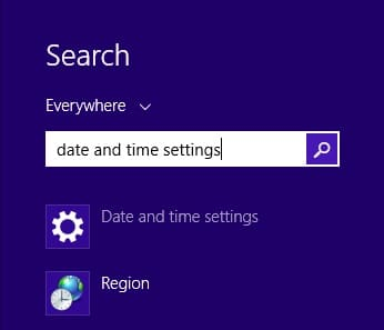 OneDrive Not Syncing on Surface - Date And Time Settings1