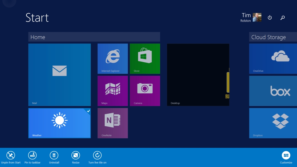 Set Up Your New Surface Tile Options