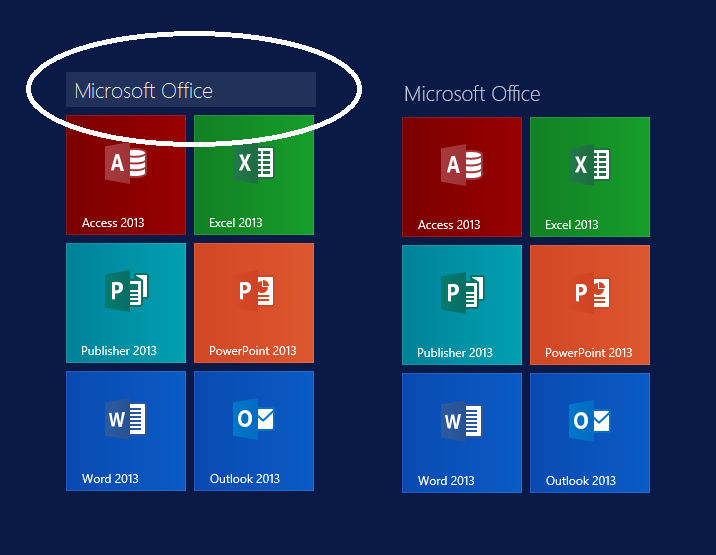 Set Up Your New Surface Tile Rename Mode
