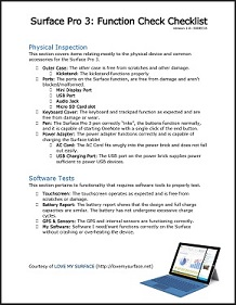 So you just got a Surface Pro 3 - Checklist