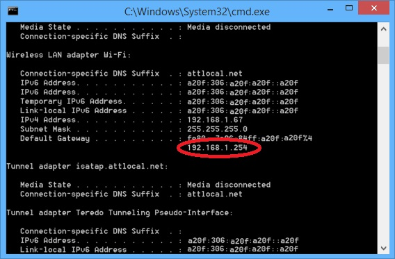 Surface Pro 3 WiFi Problems They Might Just Be Your Router-ipconfig