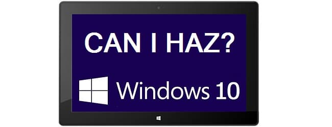 Windows 10 for Surface RT/2