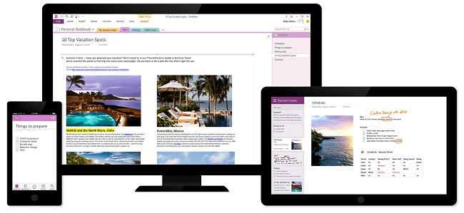 OneNote as a Virtual Whiteboard