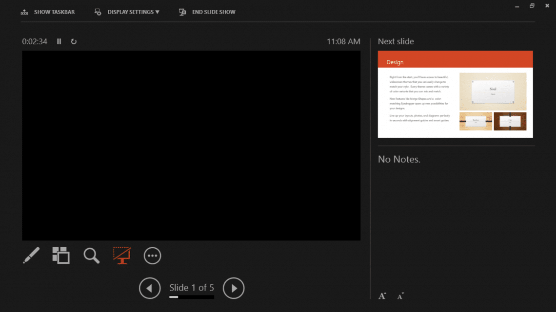 pdf presentation mode with notes