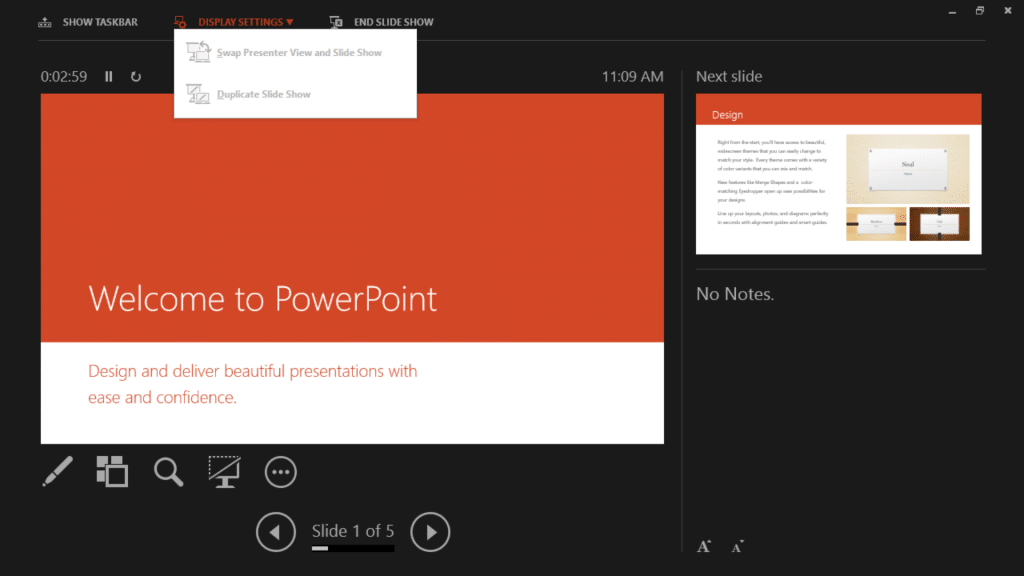 Presenting with PowerPoint 2013 on Surface Tablets - Screen