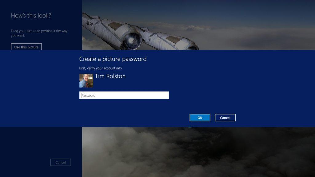Setup a Picture Password 2