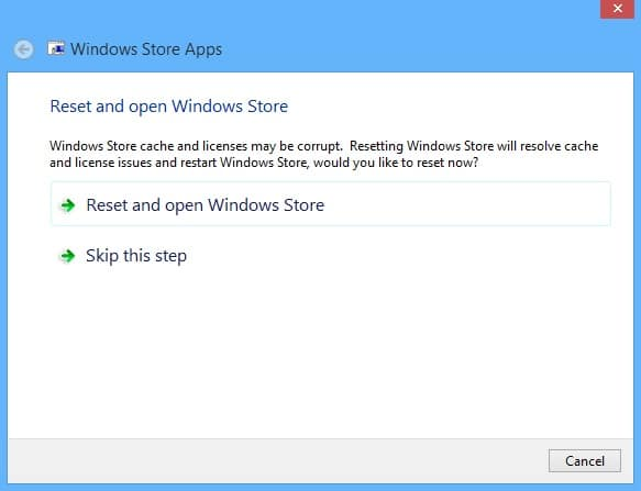 Fix Windows Store Problems on Your Surface - Troubleshooter 3