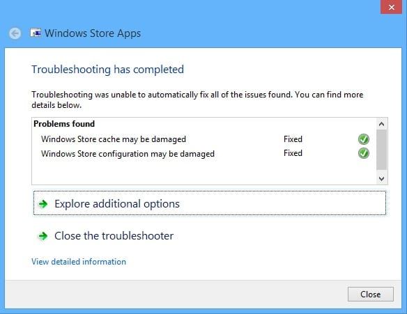 Fix Windows Store Problems on Your Surface - Troubleshooter 5