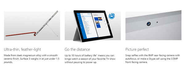 Surface 3 Available for Preorder - Features