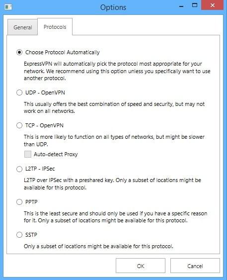 ExpressVPN Review-Options