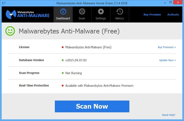Remove Malware From Surface Pro Tablets with MalwareBytes Chameleon - Scanner