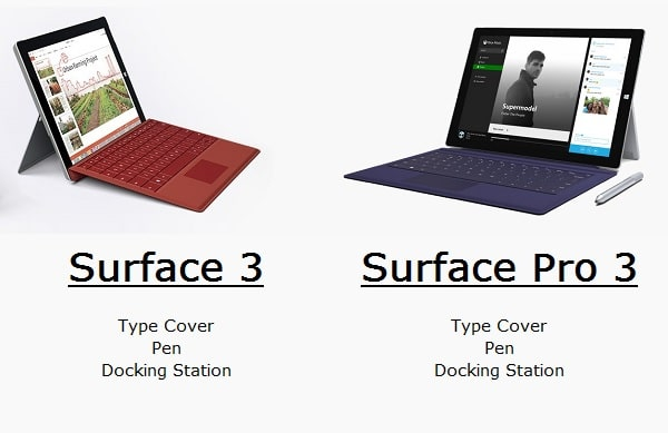 Surface 3 or Surface Pro 3 Accessories