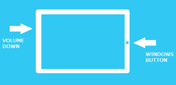 How to Take a Screenshot With a Surface 3 - Windows and Volume Down