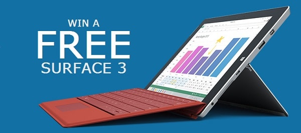 Win a Free Surface 3