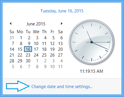 Issues With the Clock on Surface Tablets-Settings