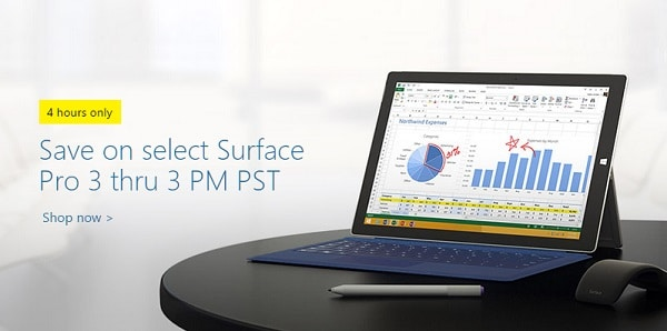 Stealth Sale on Surface Pro 3