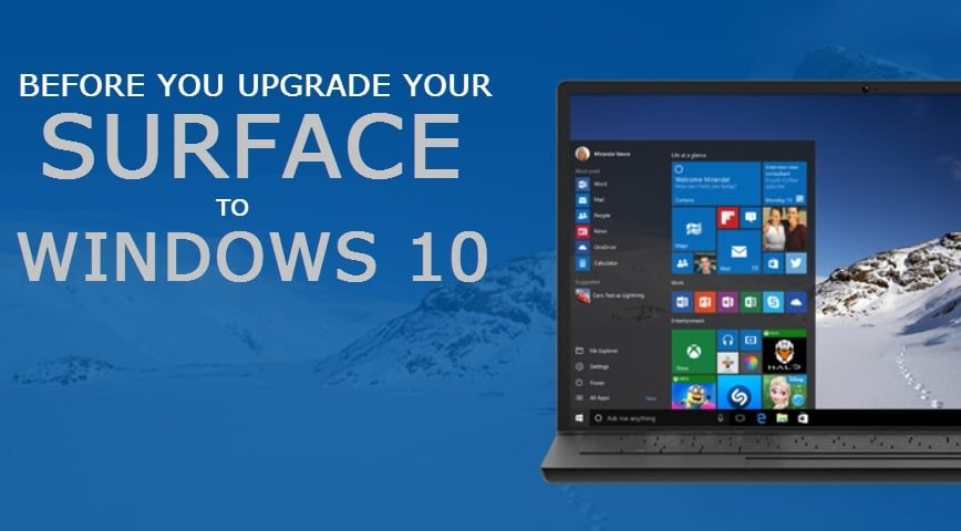 Upgrade Surface to Windows 10