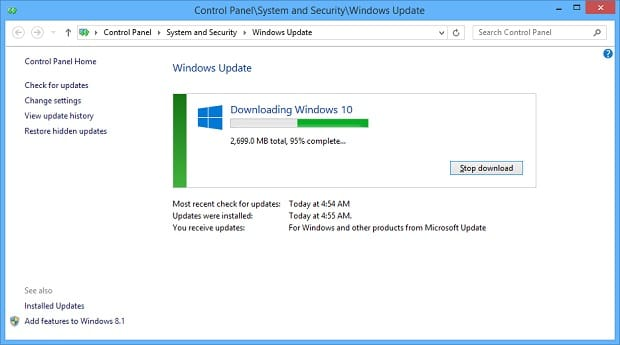 Windows 10 Installation - WU Almost There