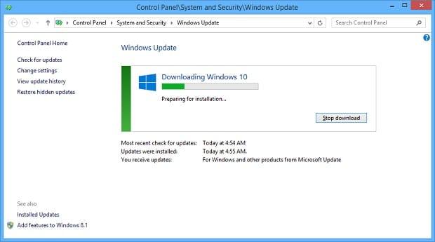 Windows 10 Installation - WU Preparing
