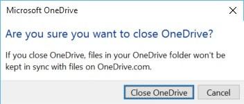Windows 10 on Surface Kill OneDrive Sync