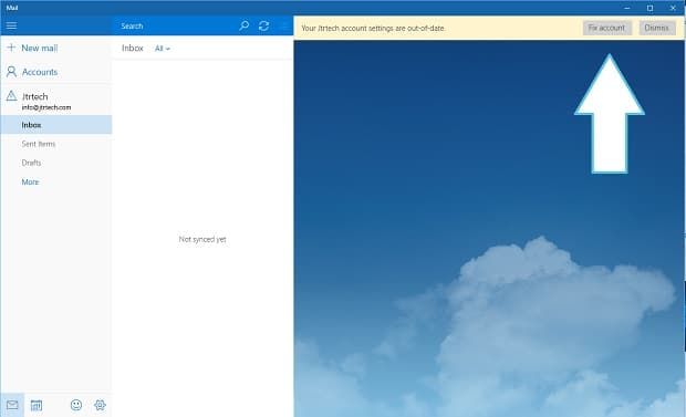 Windows 10 on Surface Mail