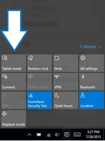 Windows 10 on Surface Notification Center1